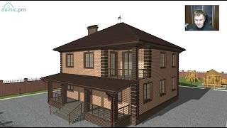 Интересный двухэтажный жилой дом на 6 жилых комнат  D-272-ТП(, 2017-08-10T09:38:00.000Z)