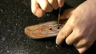 Making a custom leather belt #9 - как сделать кожаный ремень - finishing up