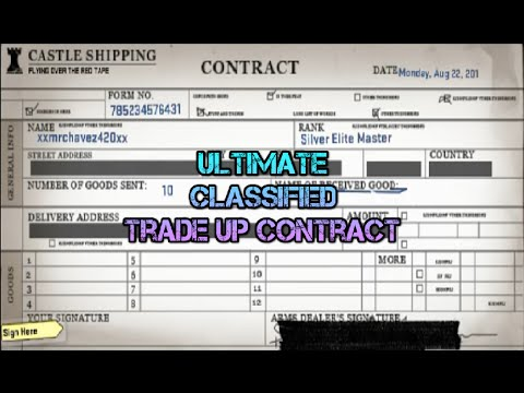 CSGO The Most Epic Classified Trade Up Video EVER!!!!