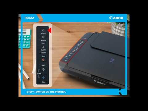 Canon PIXMA Ink Efficient E470: How to connect printer to WiFi network.
