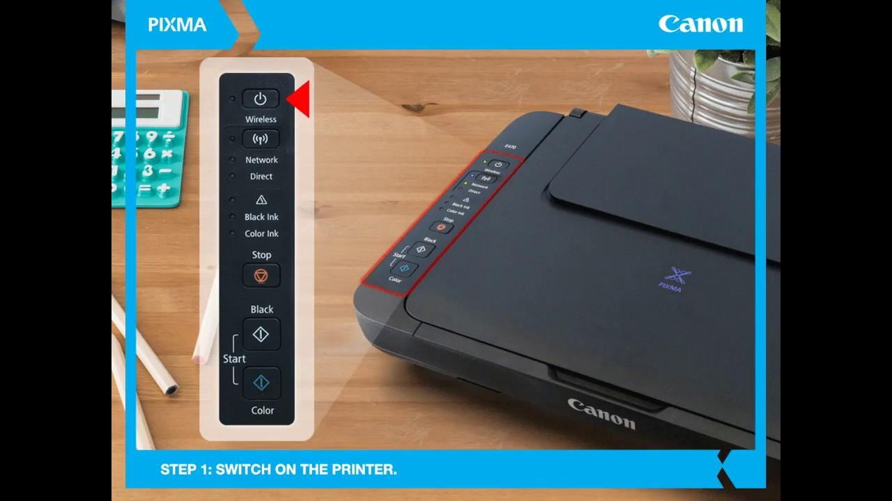 Canon PIXMA Ink Efficient E470: How to connec…