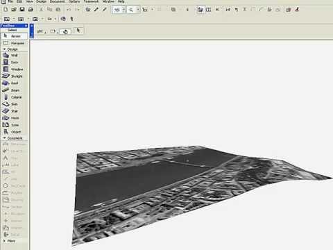 Import Terrain and Coordinate Information from Google Earth to ArchiCAD