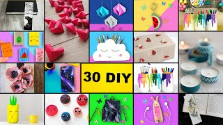 30 Amazing DIY Ideas, DIY Room Decorating Ideas, Back to School Ideas 2020