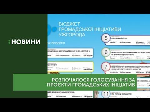 Голосування за проєкти Бюджету громадських ініціатив розпочалося в Ужгороді