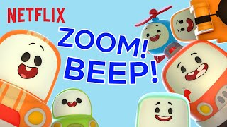Cars & Vehicles Song for Kids 🏎️ Zoom! Beep! | Netflix Jr. Jams