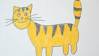 Как нарисовать кота?(Привет меня зовут Таня! И я в этом видео покажу как нарисовать кота., 2016-11-04T10:24:59.000Z)