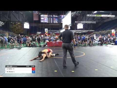 Junior GR 120 Round of 32 - Oscar Nellis (CA) vs. Moises Rivera (IL)