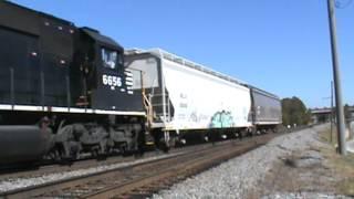 NS 6656 leads NS Train G39 in Austell, GA