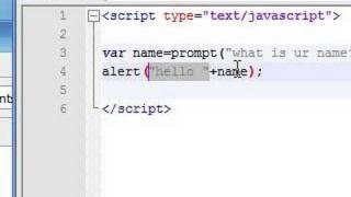 Javascript Tutorial - 5 - Prompt
