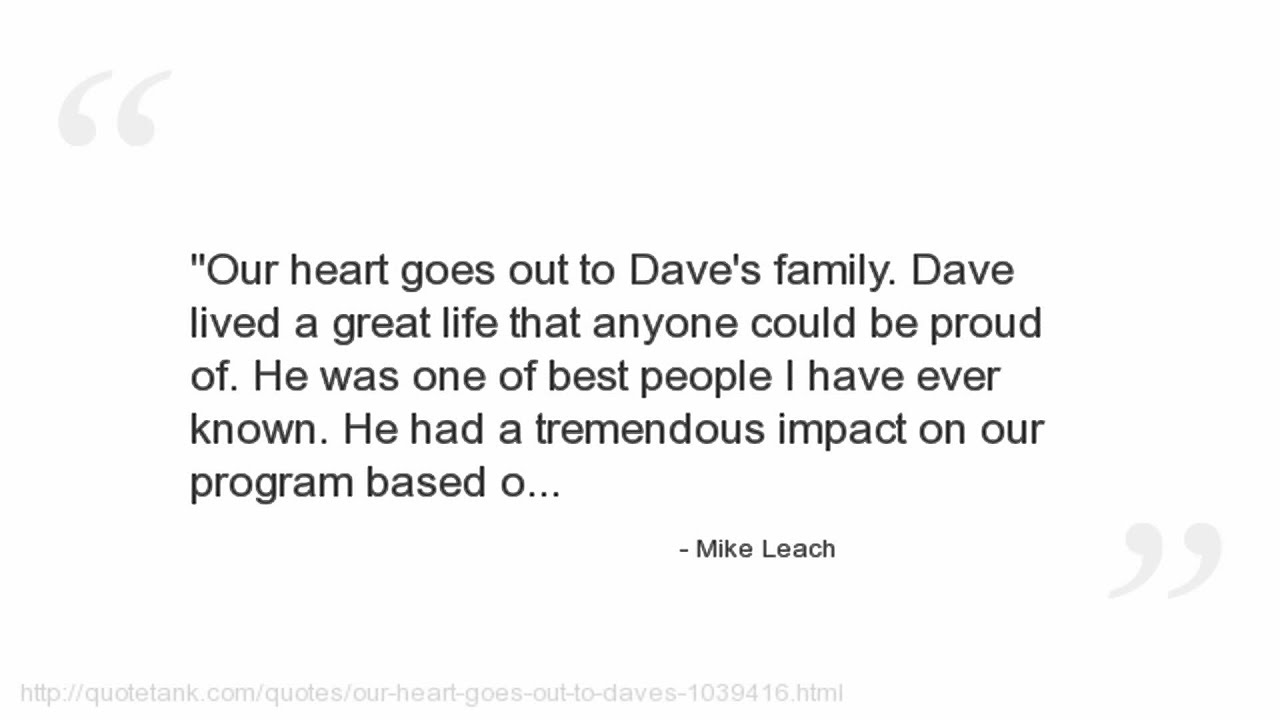 Have A Great Life Quotes Mike Leach Quotes  Youtube