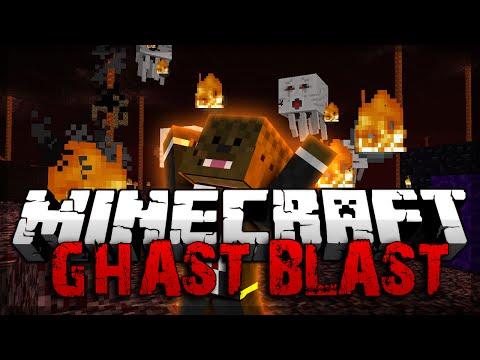 Minecraft Ghast Blast Minigame w/ Vikkstar