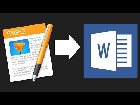 How To Save Apple Pages Document As Microsoft Word File (.doc & .docx)