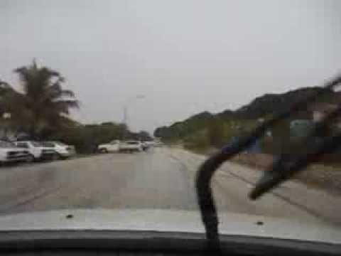 Driving on Christmas Island in the wet season