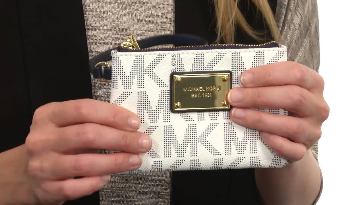 702ad438ceea MICHAEL Michael Kors Jet Set Item Small Wristlet SKU:8540402 - YouTube