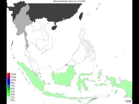 South East Asia - Mineral Rents - Time Lapse