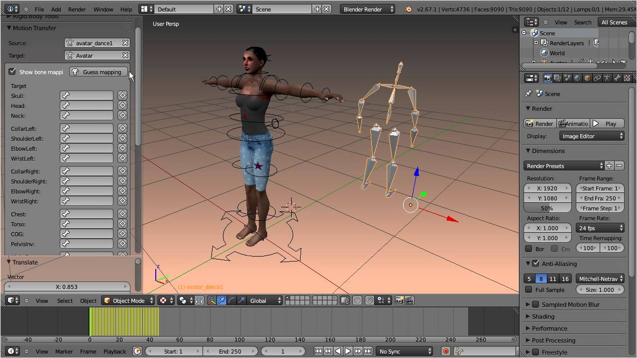 Using BVH and Mocap | Machinimatrix
