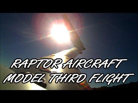 Raptor Aircraft Model Third Flight