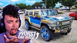 WE React to the WORST Car Mods!
