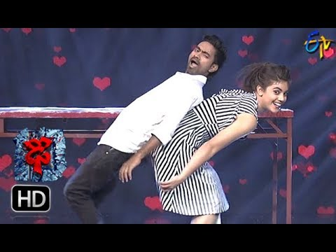 Aqsa Khan Performance | Dhee 10 |  21st  March 2018| ETV Telugu