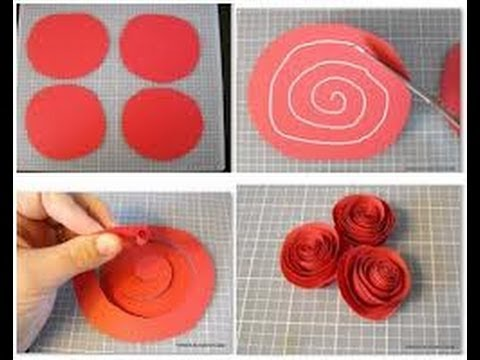 Como hacer manualidades faciles flores de papel 1 youtube - Manualidades para hacer faciles ...