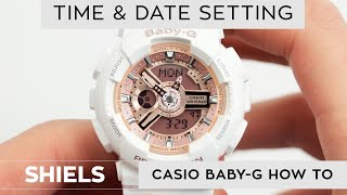 How To Change Time On A Baby-G Watch