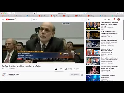 Ron Paul asks if Ben Bernanke understands silver as well as he understands gold😂