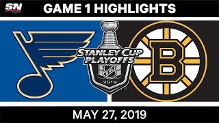 The Boston Bruins rallied from two goals down to defeat the St. Louis Blues in Game 1 of the Stanley Cup Final.