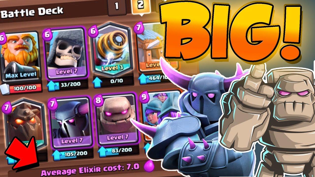 Clash Royale Big 7 0 Elixir Deck Most Expensive Deck