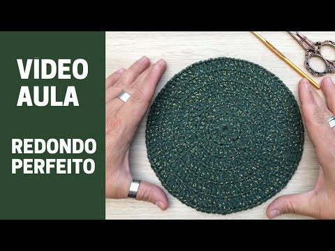 Redondo Perfeito em Crochê - Regras de aumento para fazer o tamanho que quiser - Por Marcelo Nunes
