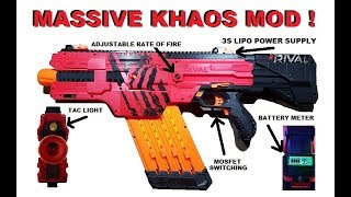 Nerf Rival Khaos Mod... with firing demo