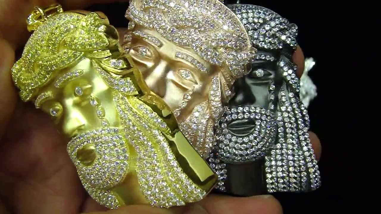 Kanye west jay z style micro pave custom sterling silver jesus kanye west jay z style micro pave custom sterling silver jesus pendant aloadofball Images