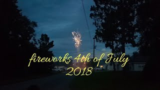 Amazing Fireworks Display on the Street Happy 4th of July 2018
