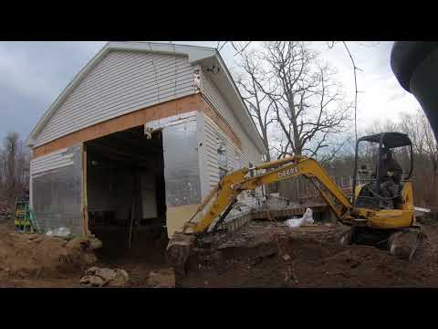 Installing a foundation under an existing building part 1: demo, excavation, footings
