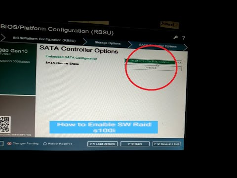 How to Enable SW Raid s100i Server HP Gen10   Controller HP G10
