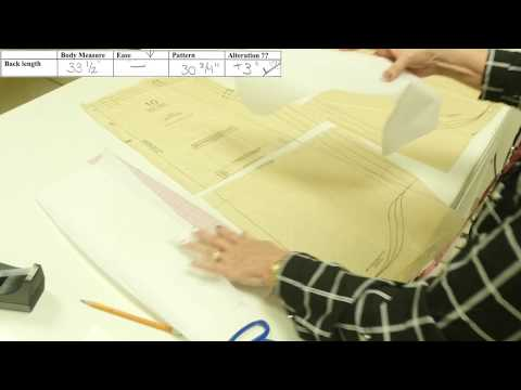 Sewing Lesson: Men's Shirt - Altering Pattern Length (3/5)