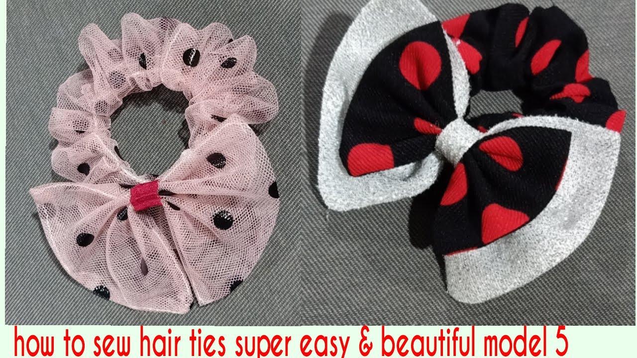 Cách may dây cột tóc siêu dễ & đẹp MẪU 5 l how to sew hair ties super easy beautiful model 5 | Khái quát những thông tin liên quan các kiểu dây buộc tóc đẹp đầy đủ