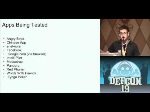 DEFCON 19: Cellular Privacy: A Forensic Analysis of Android Network Traffic (w speaker)