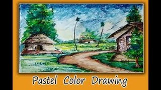 Beautiful Landscape Painting with Pastel Color/Pastel Painting for Beginners/Easy Nature Drawing