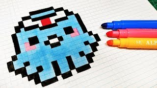 Handmade Pixel Art - How To Draw Kawaii Octopus #pixelart
