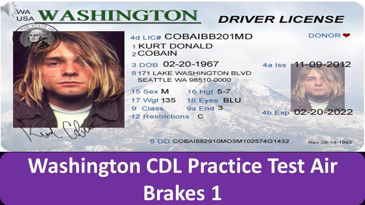 Washington CDL Practice Test Air Brakes 1