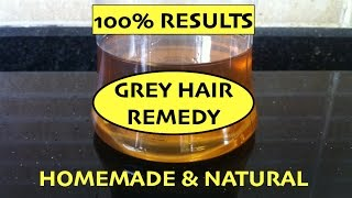 Home Remedy for Grey Hair / Magical Hair Oil / Prevent Premature Greying of Hair / Reverse Grey Hair