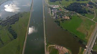 National Olympic Rowing Centre. Zaslavl, Belarus / Гребной канал, Заславль с высоты птичьего полета