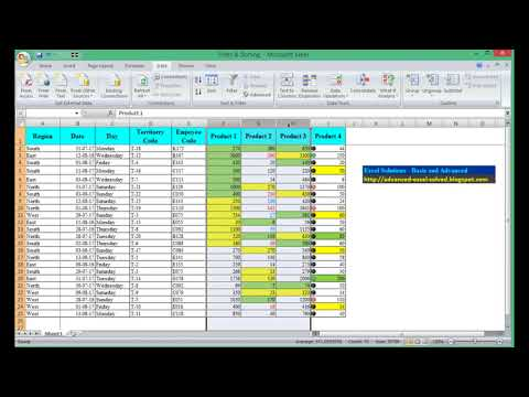 Excel Sort by Column or Row One or Multiple Sort by Cell Color Font Color Customize Sort