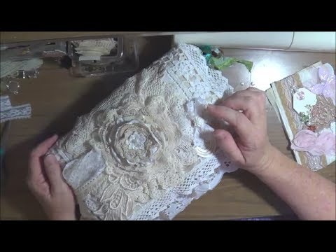 Fabric/Lace Book Binding Tutorials #1 - Two Methods :)