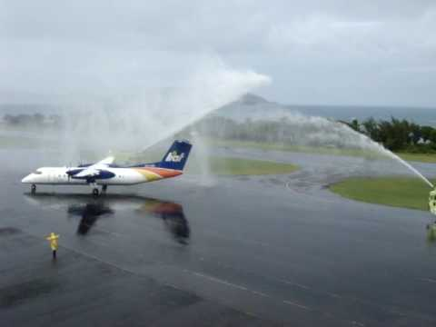 L.I.A.T Inaugural Second Scheduled Flight into Nevis