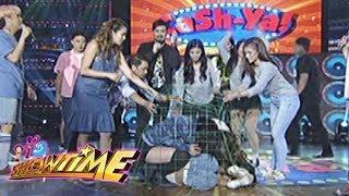 It's Showtime Cash-Ya: Team Nadine inside a chicken cage