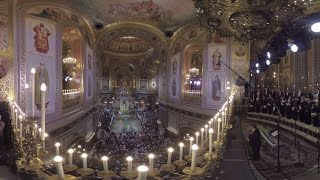 Orthodox Christmas in 360  Midnight service at Christ the Savior Cathedral in Moscow