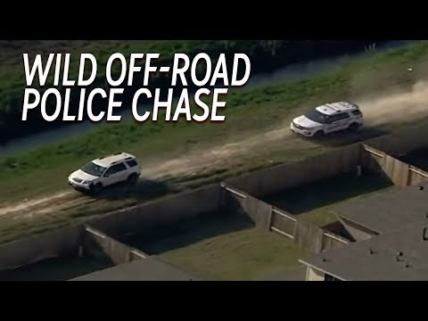 Wild Off Road High Speed Police Chase in Houston TX! [FULL VIDEO]
