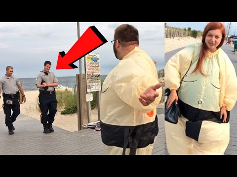 COPS CAME! SUMO SUIT IN PUBLIC! AT TOYSRUS! TOY SHOPPING WITH CRINGIEST DAD EVER!