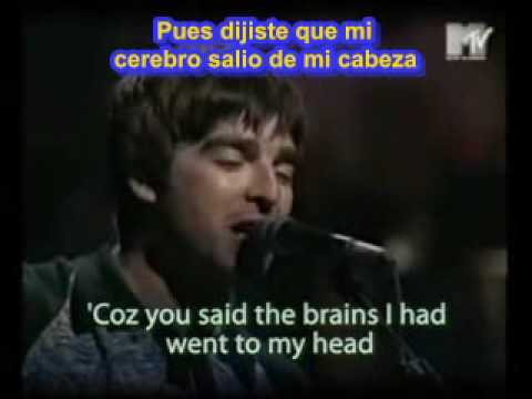 Subtitulada Don T Look Back In Anger Oasis Español Subtitulos Español Ingles Sub Youtube
